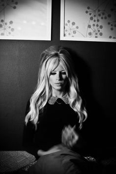 Platinum hair  / blonde hair / long hair / bangs / middle part / long layers / Brigitte Bardot hair /