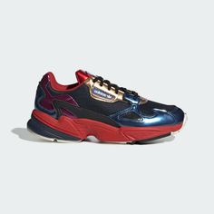 timeless design ae395 7d092 NEW WOMEN S ORIGINALS FALCON SHOES COLLEGIATE NAVY RED