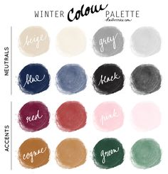 Katberries winter colour palette