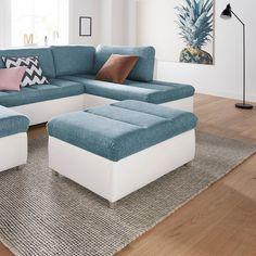 sit&more Polsterhocker mit Stauraum | Wohnzimmer | Flachgewebe - Kunstleder | SIT&MORE