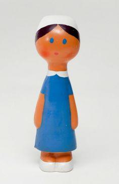 Libuše Niklová (1934-1981)-Made in Czechoslovakia,60s rubber squeaky toy-nurse