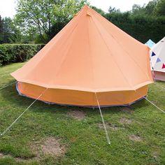 Tangerine Orange Bell Tent | Boutique Camping