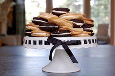 Cookies on a cake stand! DIY seasonal Ribbon