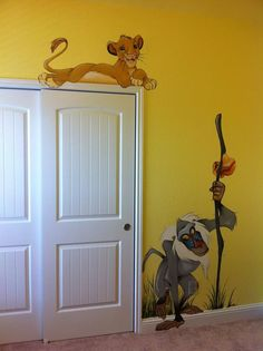 Lion King themed birthday party. Decor ideas. Mural