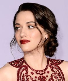 Kat Dennings Sports The Chignon Of Our Dreams #refinery29