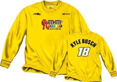 Kyle Busch M's Long Sleeve T-Shirt: Kyle Busch #18 Name and Number Long Sleeve T-Shirt by Checkered Flag. $25.99. Calling all NASCAR enthusiasts. Are you the ultimate Kyle Busch fan? Represent your favorite driver when you step out in this officially licensed Kyle Busch M's Long Sleeve T-Shirt: Kyle Busch #18 Name and Number Long Sleeve T-Shirt. With bold screen print graphics and a rib knit collar, this super comfy tee is perfect for any casual or die-hard supporter!