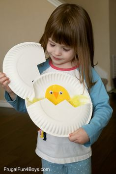 Paper Plate Craft: Hatching Chicks! - Frugal Fun For Boys and Girls