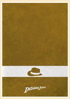 Indiana Jones - Minimal Movie Poster by Jon Glanville ~ #jonglanville #minimalmovieposters #alternativemovieposters