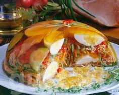 Lajos Mari konyhája - Húsvéti zöldséges tojásaszpik Easter Recipes, My Recipes, Vegan Recipes, Cooking Recipes, Finger Foods, Bacon, Food And Drink, Appetizers, Eggs