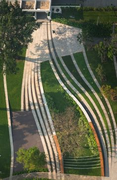Landscape design for SCG headquarter, Bangkok, Thailand by LAB
