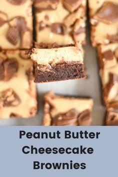 Peanut Butter Cheesecake Brownies | Sweet Sundays