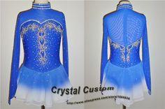 Hot Sales Ice Figure Skating Dresses Fashion New Brand Competition Girls Figure Skating Dresses Crystal  DR3666