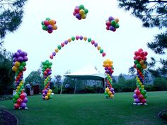 Agate Balloon Columns and Arches