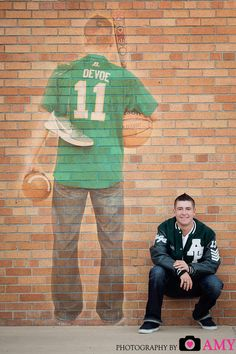 Who would love to do a shot like this........what a great way to show off all the favs. Senior photography, senior boy picture, composite image, sports