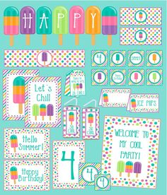 Ice Pop Party Decoration Package for Ice Pop Birthday Party