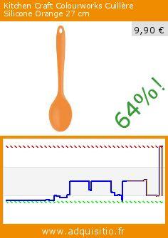 Kitchen Craft Colourworks Cuillère Silicone Orange 27 cm (Cuisine). Réduction de 64%! Prix actuel 9,90 €, l'ancien prix était de 27,35 €. http://www.adquisitio.fr/kitchen-craft/colourworks-cuill%C3%A8re-4