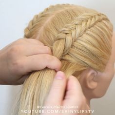 Cool Braid Hairstyles, Easy Hairstyles For Long Hair, Braids For Long Hair, 2 Braids, Braided Hairstyles Tutorials, Girl Hairstyles, Hair Style Vedio, Hair Tutorials For Medium Hair, Front Hair Styles