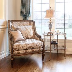 A Custom Marge Carson Chair Creates A Relaxing Sitting Area, Perfect For A  Good Book