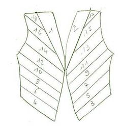 Pin Gilet Iris Folding on Pinterest