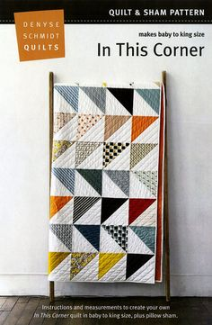 In This Corner Denyse Schmidt quilt pattern sham by mineymo