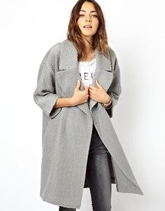 Imagen 1 de Abrigo estilo cárdigan holgado de ASOS