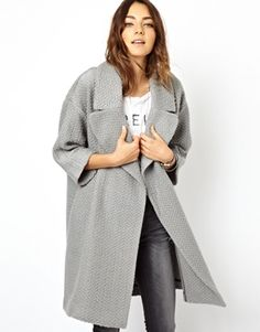 "ASOS Slouch Coatigan in Gray {take 10% off on all orders at ASOS w/ code ""NOVEMBER10"" or $20 off on orders of $130+ w/ code ""ASOS20OFF"" thru 11/10}"