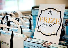 """Gift table labeled as """"Prize port"""""""