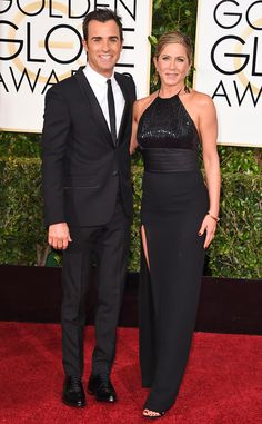 My pick for Best Dressed Couples at the 2015 Golden Globes Awards: Jennifer Aniston & Justin Theroux. | E! Online