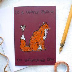 Woodland Fox Valentine's Card