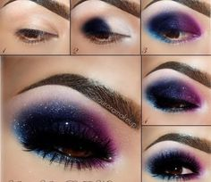 Galaxy Stars Eye Makeup Tutorial