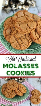 Old Fashioned Molasses Cookies Recipe 25 Festive Christmas Cookie Recipes – Captain Decor Cookies Oreo, Xmas Cookies, Cookie Brownies, Sweet Bread Meat, Old Fashioned Molasses Cookies, Best Christmas Cookies, Christmas Treats, Pretzels Recipe, Strawberry Recipes