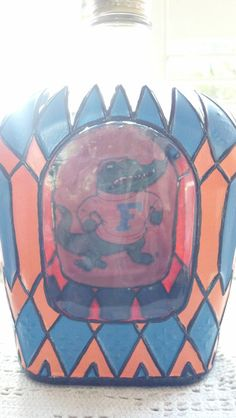 Florida Gator's Crown Royal Hand Painted by PattiesPassion on Etsy, $65.00