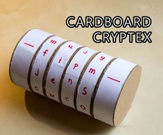 Cardboard Cryptex Safe! Something cute for kids.