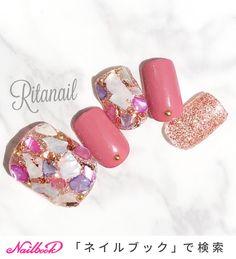 Glitter Gel Nails, Bling Nails, Diy Nails, Toe Nail Color, Toe Nail Art, Simple Nail Art Designs, Gel Nail Designs, Beautiful Nail Art, Gorgeous Nails