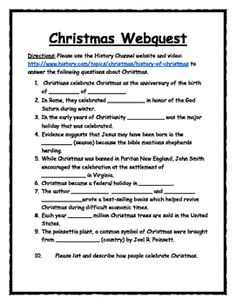 christmas webquest - Halloween Web Quest