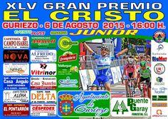 """cartel """"XLV G.P. EL CRISTO"""" Prueba ciclista junior en guriezo 2015"""