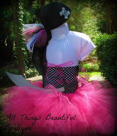 Pirate Girl Pink Halloween Costume