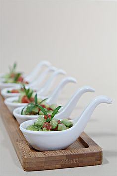 Food styling: Appetizer spoons make for striking and tasty morsels!