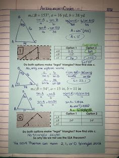 law of sines and cosines