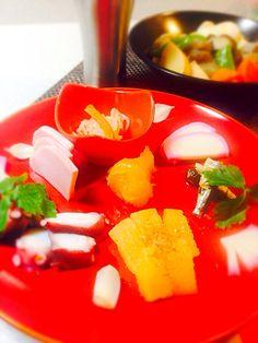 BabyRIKA's dish photo ワンプレートおせち お煮しめ http://snapdish.co #SnapDish #おせちグランプリ2016 #美容/ダイエット #簡単料理 #節約料理 #お正月