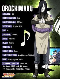 Orochimaru character info - Naruto