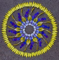 Flower petals floral sculpture by Sakul Intakul
