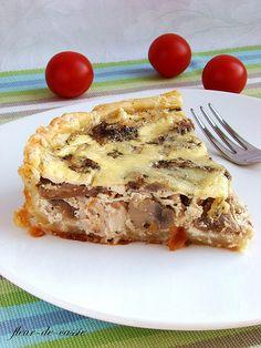 киш с курицей и грибами Cooking With Kids, Freezer Meals, Lasagna, Quiche, Food Porn, Good Food, Lunch Box, Food And Drink, Pie