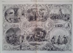 1866 PRINT LONDON THEATRES XMAS PANTOMINES AND BURLESQUES