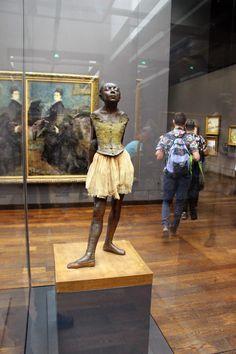 April Little Dancer, age Degas, Musee d'Orsay, Paris France