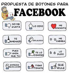 Propuestas de botones para Facebook