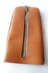 Vintage Pom Angem Leather Pocket Key Case Holder Fob Hood Bell Zipped Zip Circa 1950s Keyring Key Ring #FollowVintage