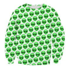 Little Green Men Crewneck