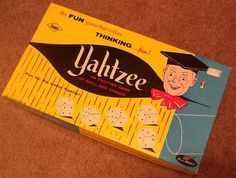Vintage late 60's early 70's Yahtzee Board game unplayed on Etsy, $9.95