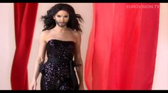 Conichita Wurst represents Austria during the Eurovision contest Conchita has already become a symbol for tolerance and artistic freedom in Austria and beyond. UPDATE: Conchita actually won the Eurovision contest Eurovision 2014, Eurovision France, Eurovision Song Contest, Eurovision Songs, Hetalia, Phoenix, Duncan, Strapless Dress Formal, Formal Dresses